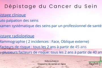 FICHE PRATIQUE :DÉPISTAGE DU CANCER DU SEIN
